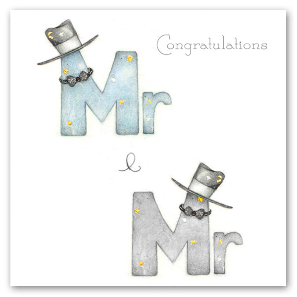 Same Sex Wedding Card - Mr & Mr