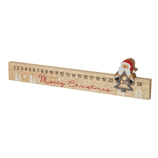Advent Countdown - Wooden Santa Claus