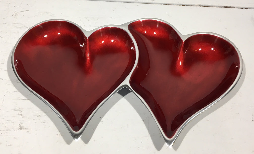 Red Double Heart Platter