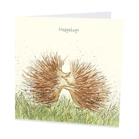 Hedgehog Card - Hedgehugs