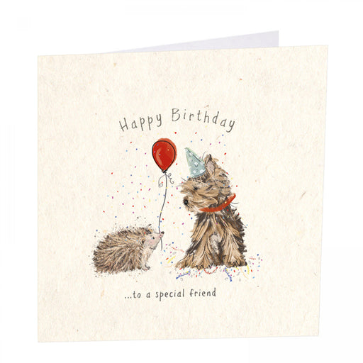 Dog Birthday Card - Happy Birthday to a Special Friend - Art Beat