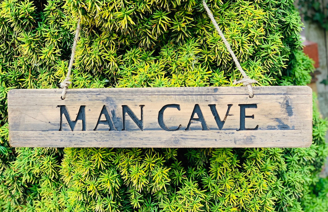 Man Cave Rustic Wooden Message Plaque