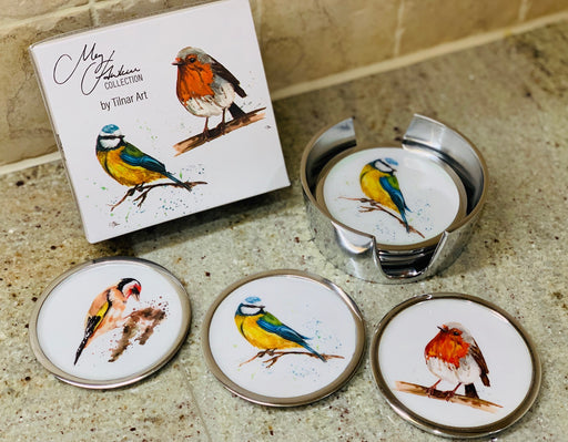 Garden Bird Coasters set of 6 - Meg Hawkins