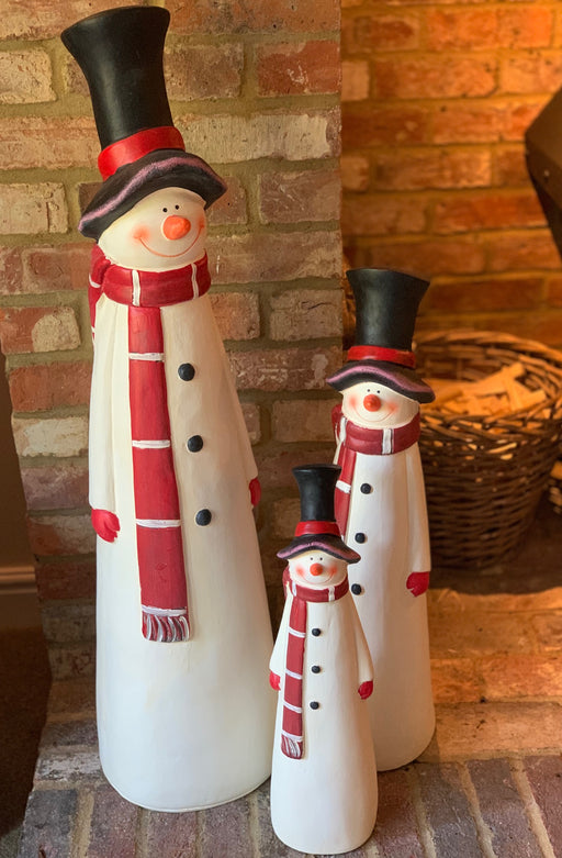 Tall Snowman Figure Christmas Decoration - Three Sizes