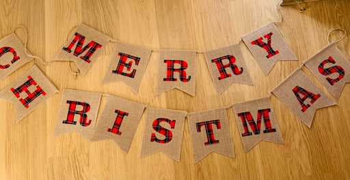 MERRY CHRISTMAS Garland - Hessian Bunting
