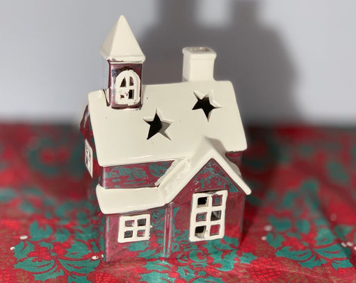 Dutch Village Ceramic Lantern Church - 17cm