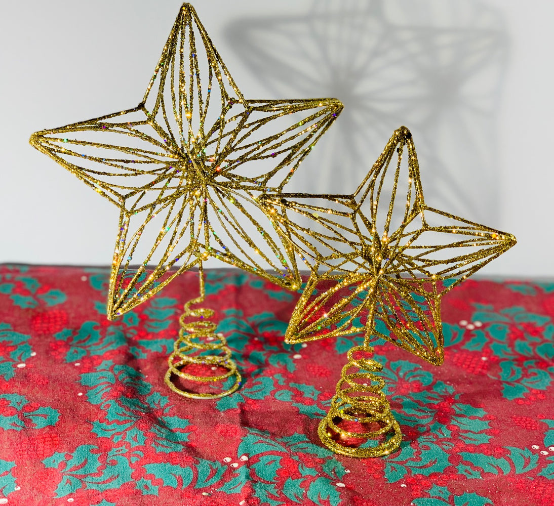 Large Gold Star Tree Topper