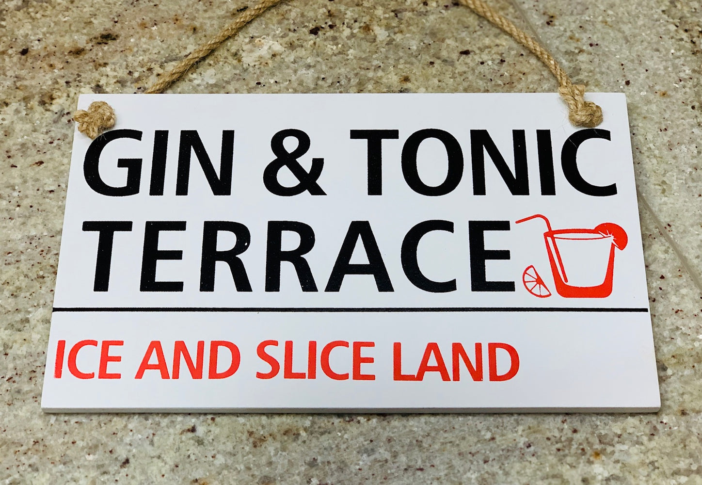 Gin Plaque - Gin & Tonic Terrace
