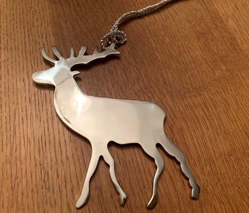 Silver stag decoration