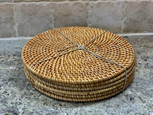 Java Round Rattan Placemats - Set of 6