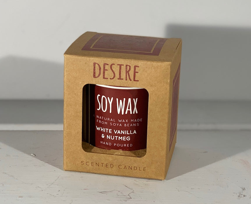 Soy Wax Scented Candle - White Vanilla & Nutmeg