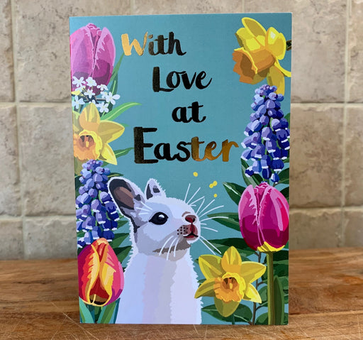 With Love At Easter - Bunny card with Gold Foil Detail, Sarah Kelleher