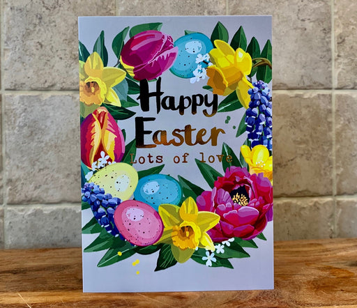 Happy Easter lots of Love - Gold Foil Detail, Sarah Kelleher