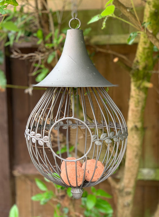 Large Hanging Metal Bird Feeder - San Marino