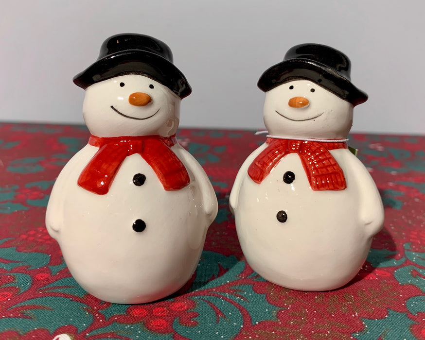 Snowman Salt And Pepper Pots