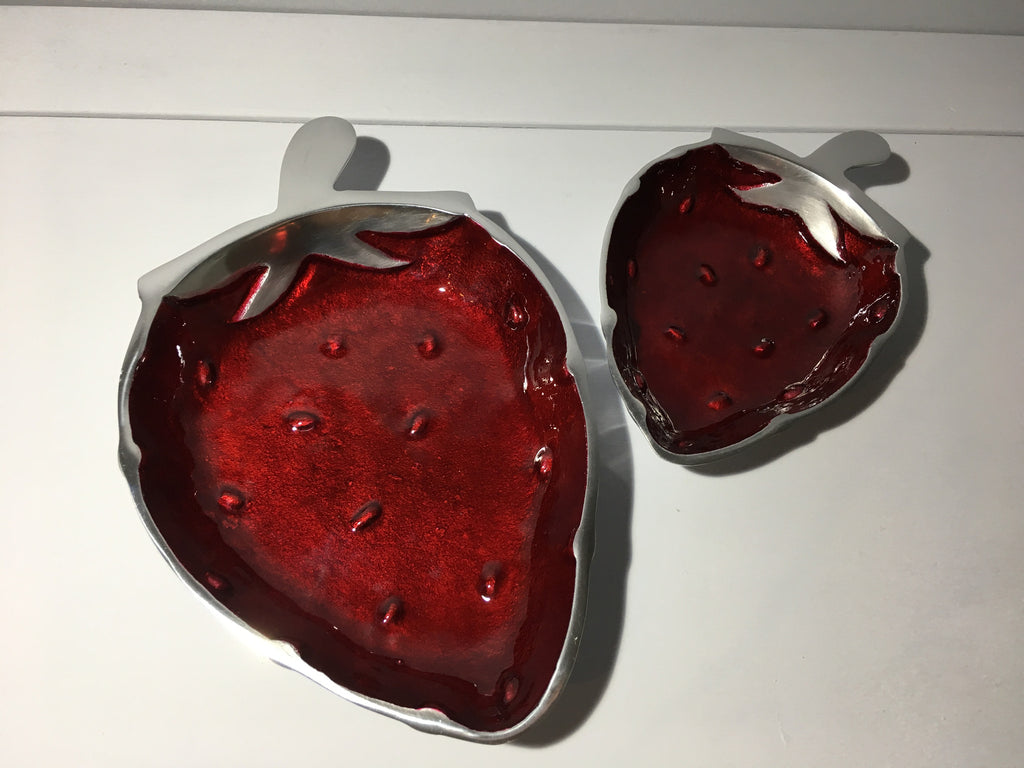 Strawberry Shaped Platters - Set of two