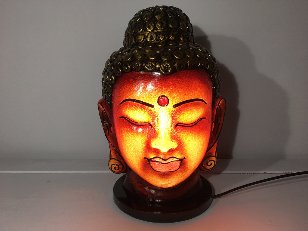 Buddha Head Lamp - Bronze