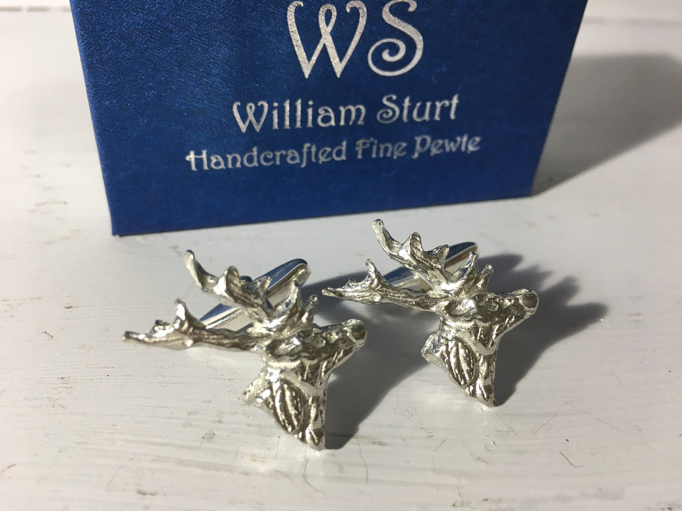 Stag Cuff Links - Fine Pewter