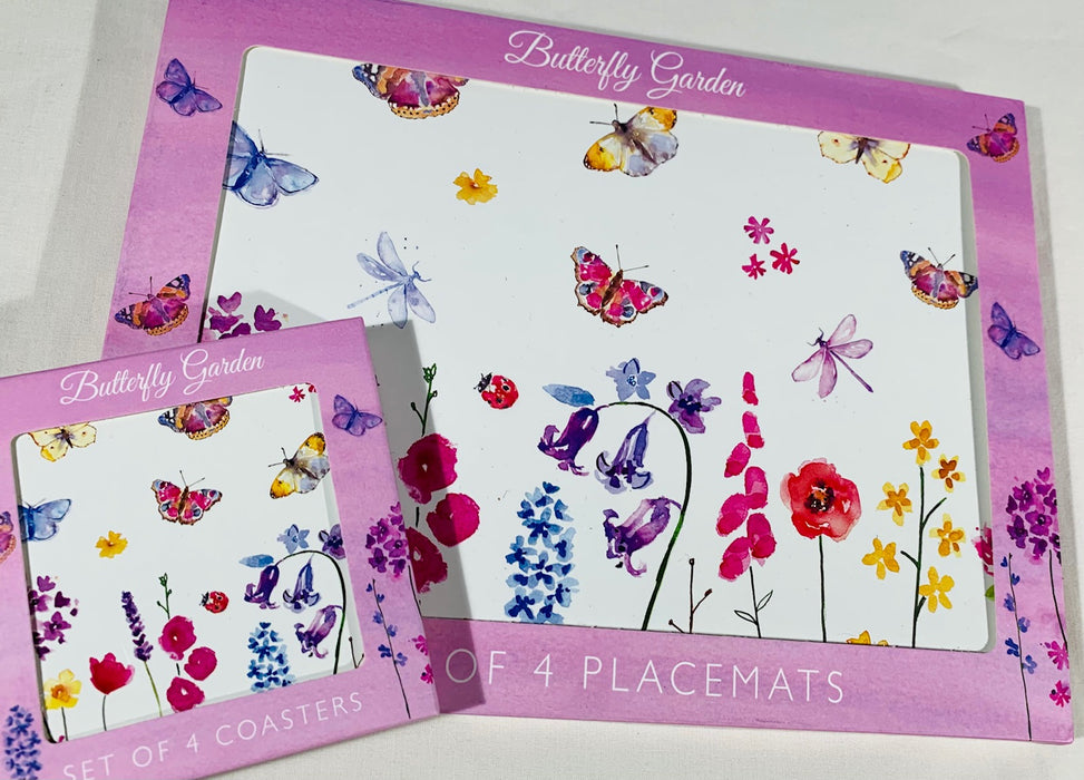 Butterfly Garden - Placemats and Coasters - Set of 4