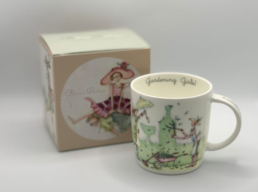 Gardener Mug - Gardening girls! - Berni Parker Bone China Mug, Designed and Made in the UK