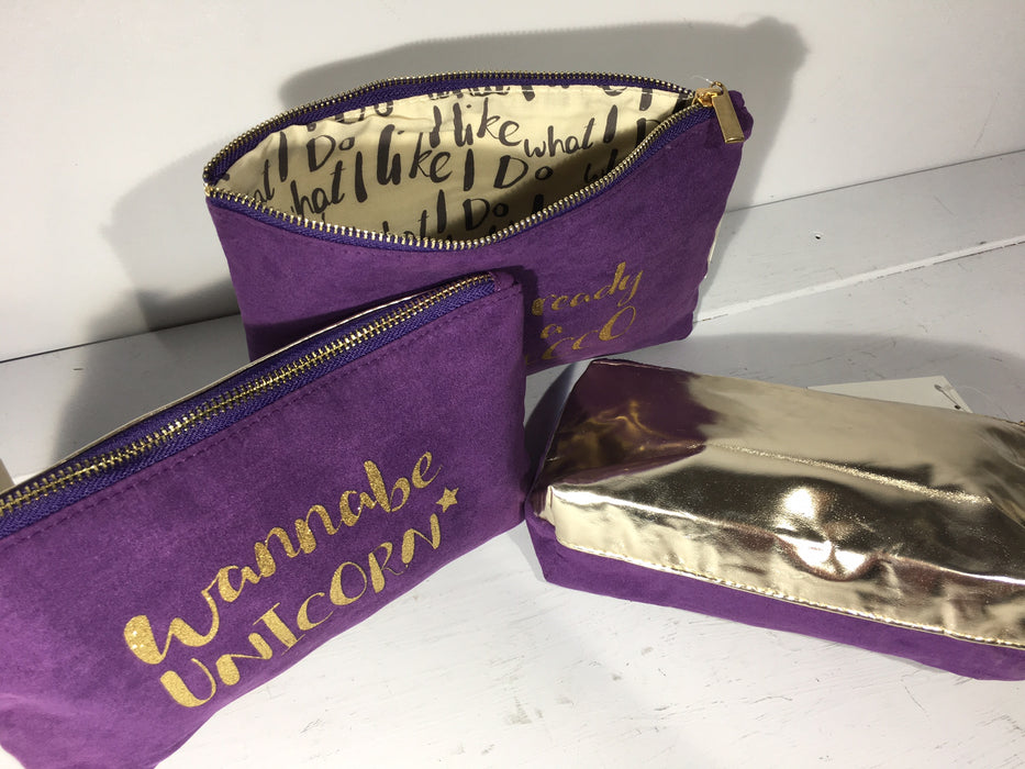 Purple Cosmetic Pouches