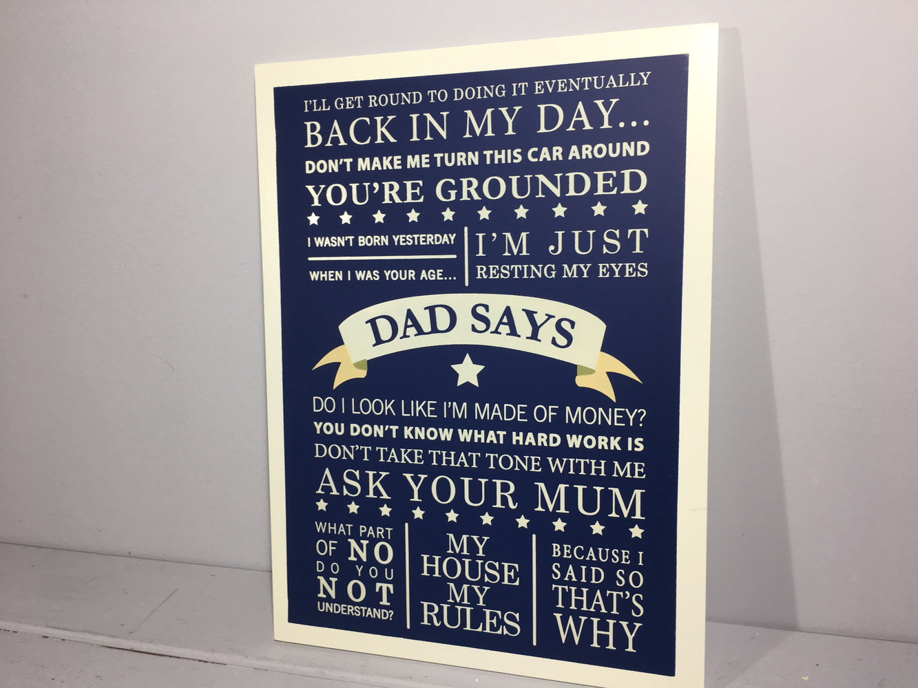 Dad Says Wooden Wall Plaque