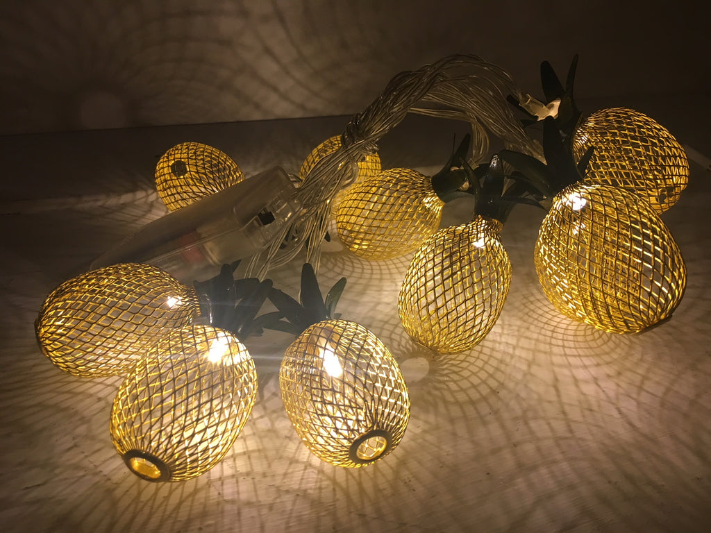 Pineapple String Lights - LED Battery Operated
