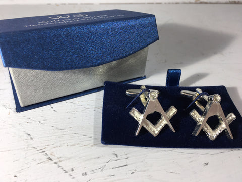 Masonic Cuff Links - Fine Pewter