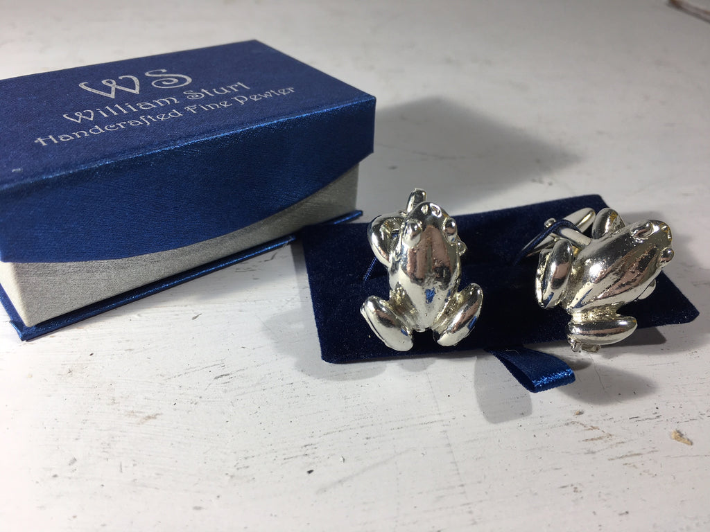 Frog Cuff Links - Fine Pewter