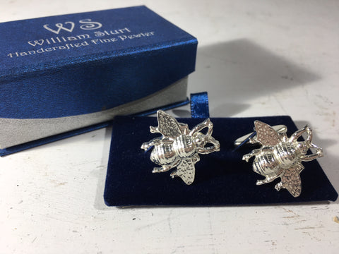 Bee Cuff Links - Fine Pewter