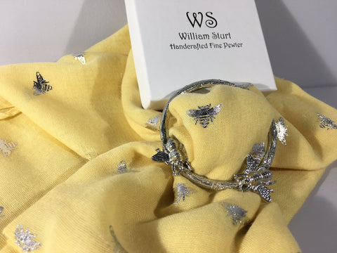 Bee Scarf Ring - Pewter