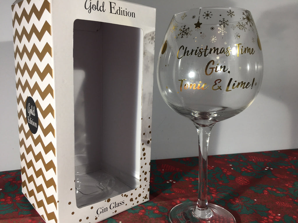 Christmas Gin Goblet - Gold Edition - Three Designs