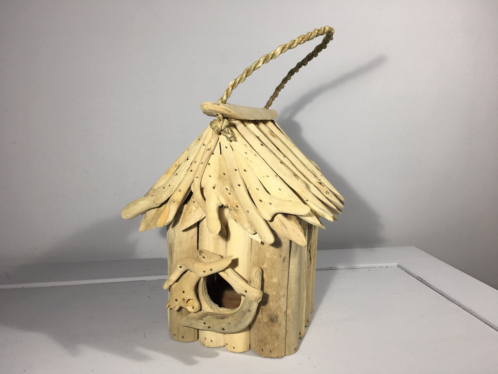 Driftwood Birdhouse Square