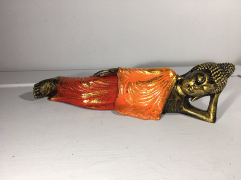 Sleeping Buddha Ornament - Orange Robe