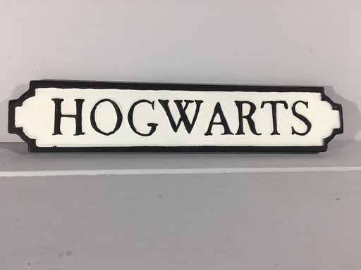 Hogwarts - Metal Road Sign