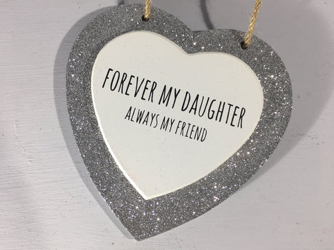 Sparkle Heart - Forever My Daughter, Always My Friend
