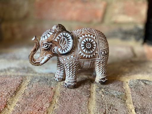 Aztec Carved Elephant - Medium