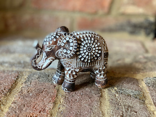 Aztec Carved Elephant - Small