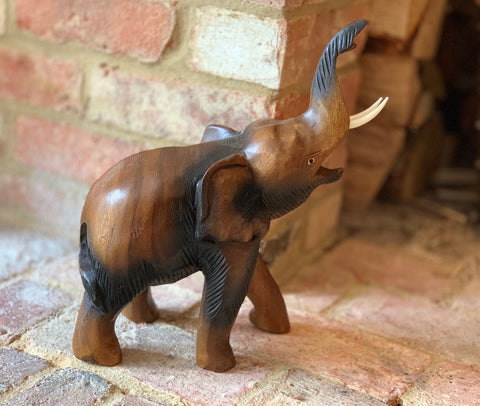 Wooden Carved Thai Elephant Large - 32cm