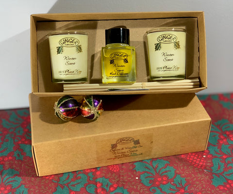 Diffuser and Votive Gift Set - Winter Scent