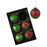 Red Green Tartan Glass Bauble Christmas Tree Decorations - Set of 6