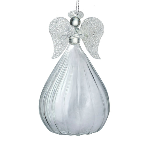 Large Glass Angel Hanging Decoration