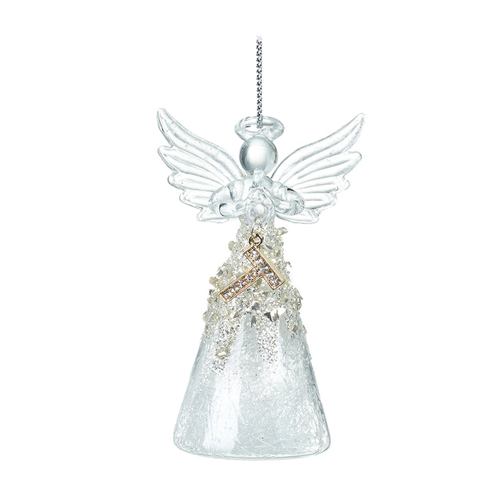 Alphabet Glass Angels - Hanging Decorations