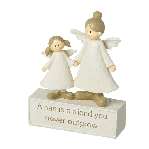 Nan and Grandaughter Angel Figurine
