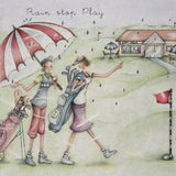 Ladies Golf Card - Rain stop play - Berni Parker