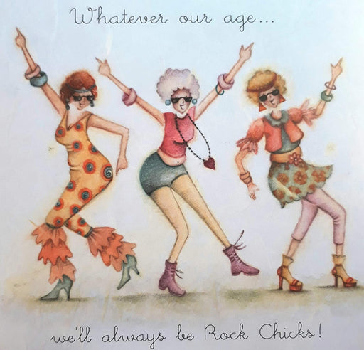 Friends Card - Rock Chicks! Berni Parker