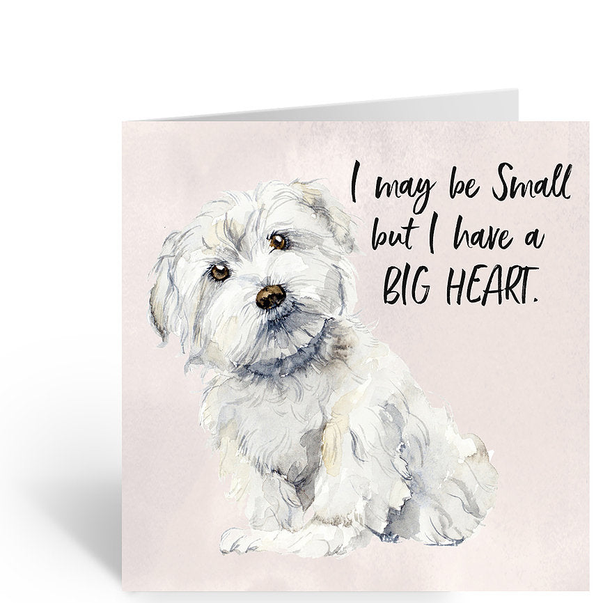 Dog Card by Lisa Lou - I may be small but I have a big heart