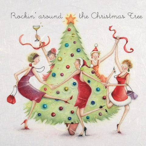 Christmas Card - Rockin around the Christmas Tree - Berni Parker