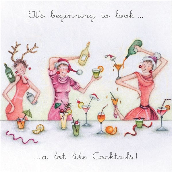 Cocktails Christmas Card - Its beginning to look...a lot like Cocktails!