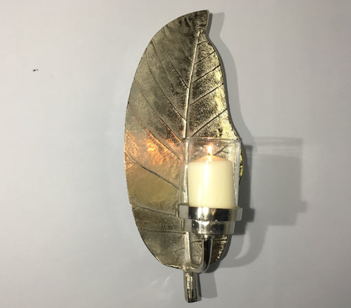 Wall Sconce - Silver Leaf
